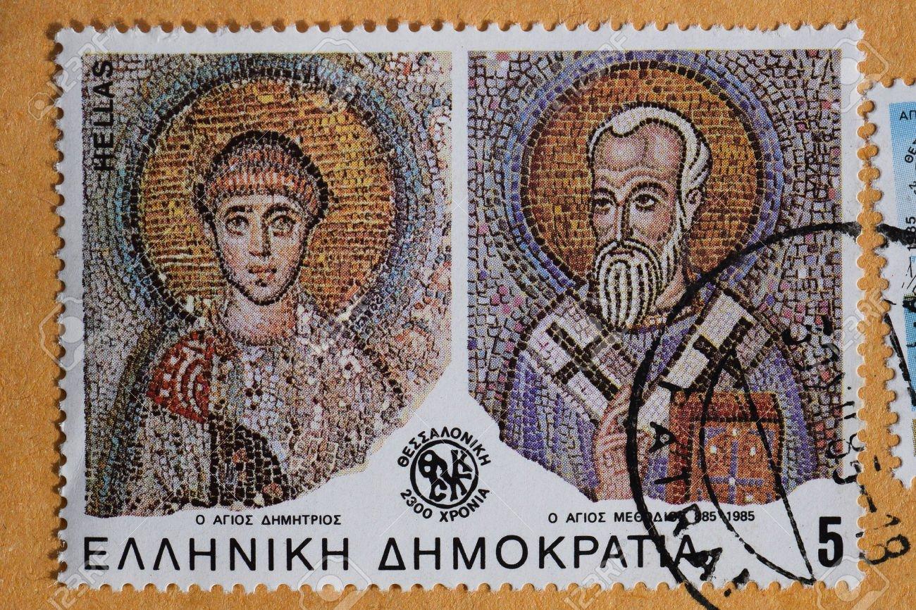 40667978-GREECE-CIRCA-1985-Saints-Demetrius-and-Methodius-of-Thessaloniki-detail-from-byzantine-era-mosaic-on-Stock-Photo.jpg