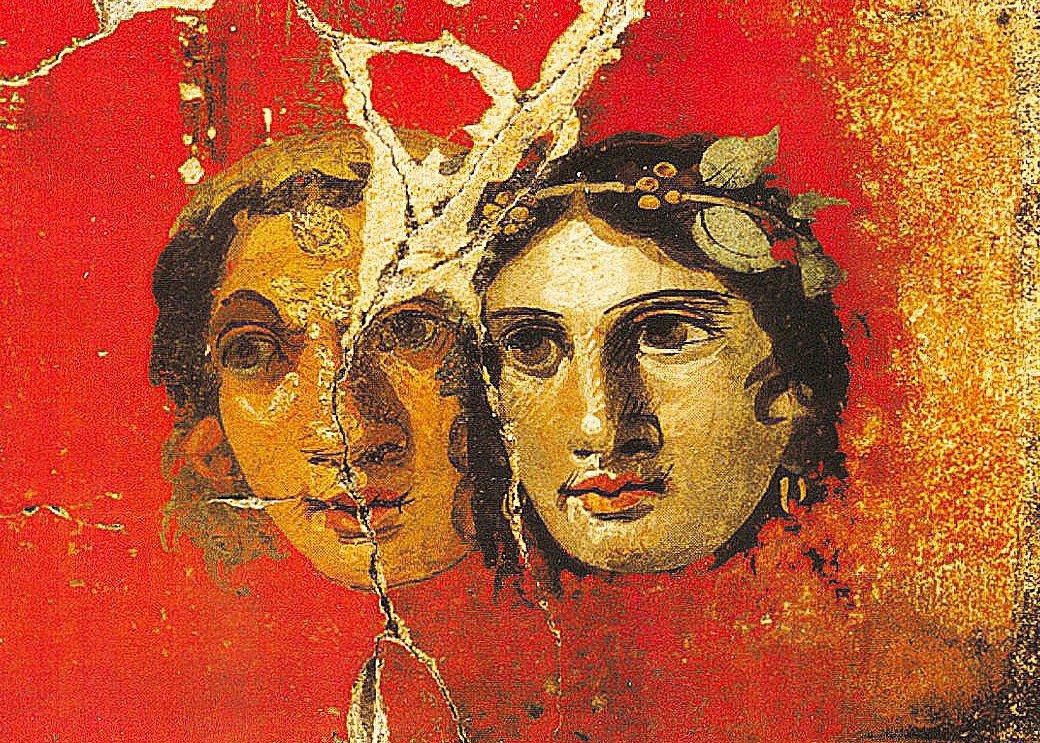 Pompeii fresco theater masks.jpg