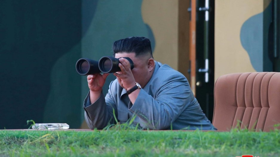 With missile launch, North Korea shows ire at neighbor