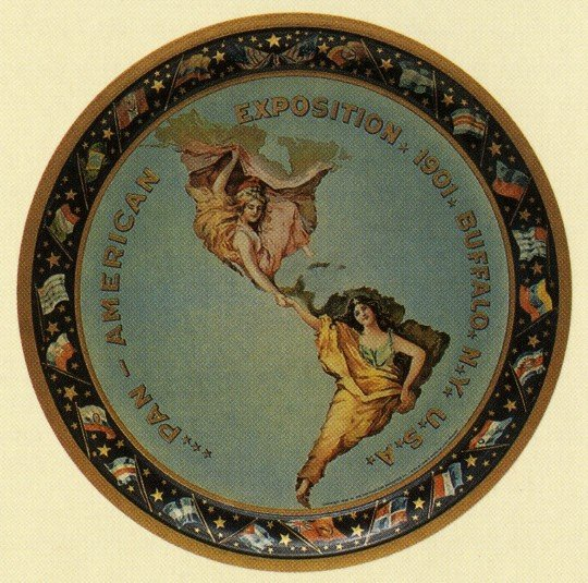 Raphael Beck (1858-1947), Design for the Pan-American Exposition Logo, 1901; Collection of the Buffalo & Erie County Historical Society