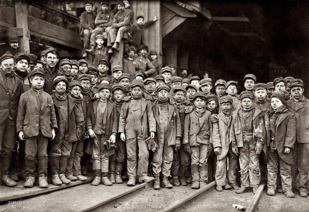 Hine, Lewis (1874-1940) - 1910 Breaker Boys Working in Ewe…   Flickr