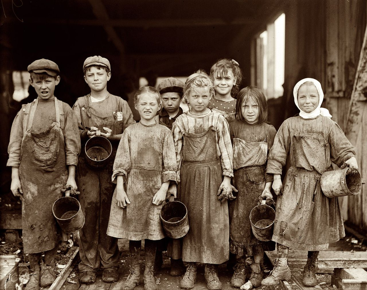 Child Labor, Lil Shuckers, 1912 - by Lewis Hine (1874 - 1940), USA ...