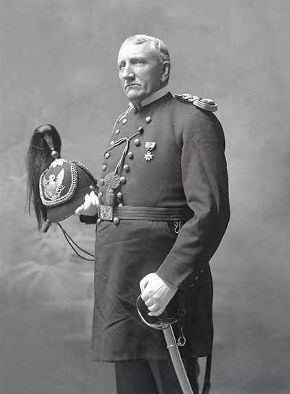 Lieut Richard Henry Pratt, Founder and Superintendent of Carlisle Indian School, in Military Uniform and With Sword 1879.jpg