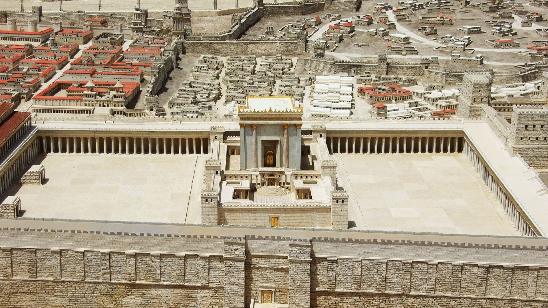 The Model of Jerusalem in the Second Temple Period | The Israel ...