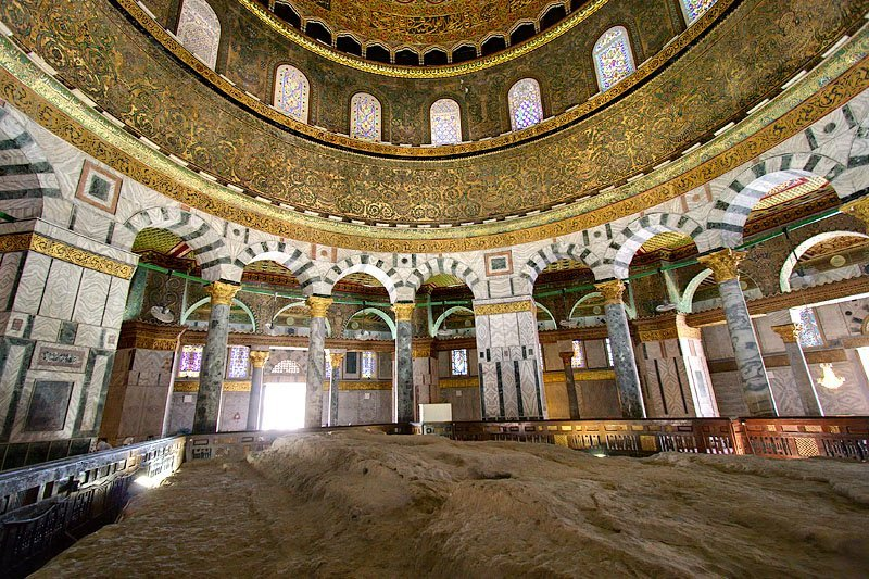 Dome of the Rock interior and Foundation Stone | The Foundat… | Flickr