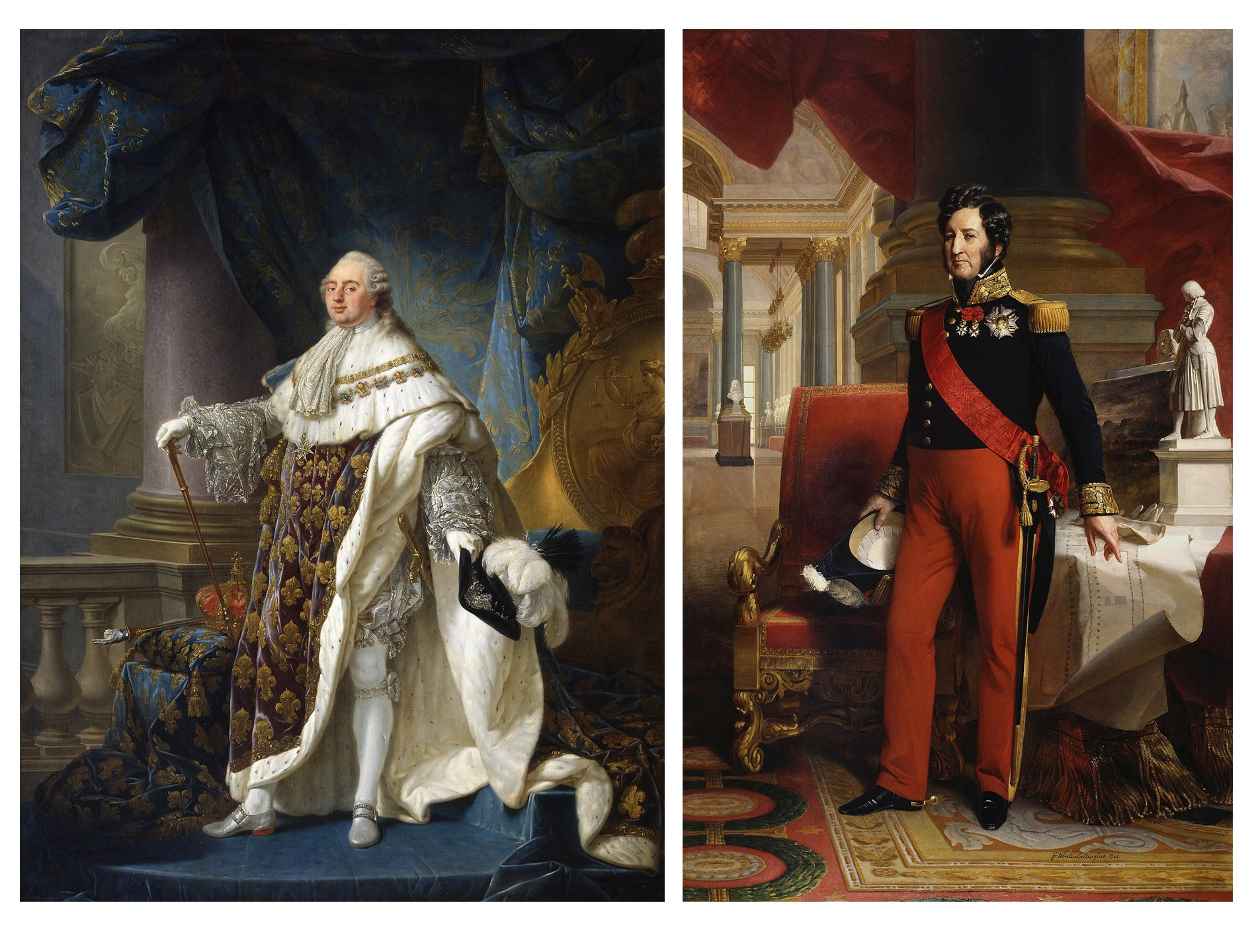 King Louis XVI and King Louis Philippe I