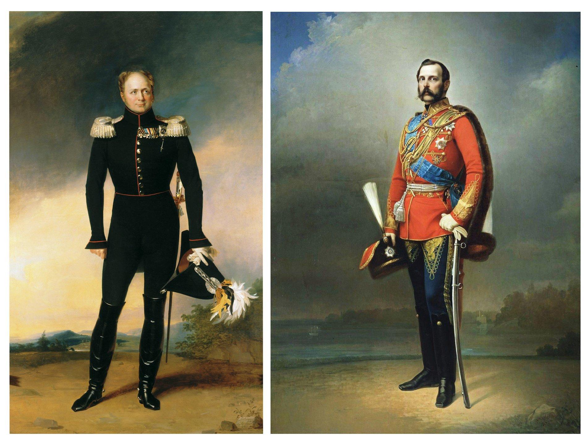 Tsar Alexander I and II