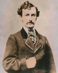 """JOHN WILKES BOOTH ASSASSINATED ABRAHAM LINCOLN 8x10"""" HAND COLOR ..."""