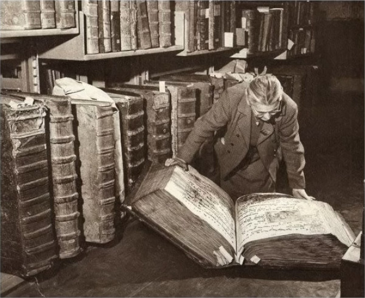 """Bruce Adams on Twitter: """"Giant books found in the Prague Castle ..."""