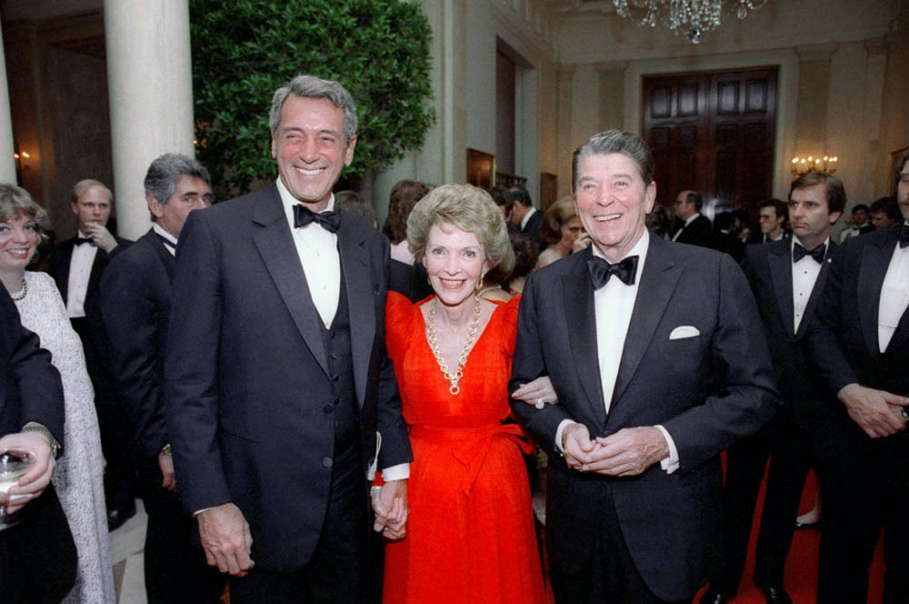 Rock Hudson with the Reagans