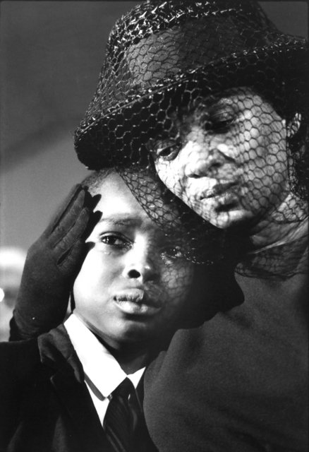 Bill Eppridge | Mrs. Cheney and Young ben, James Chaney Funeral, Mississippi, 1964 (1964) | Artsy