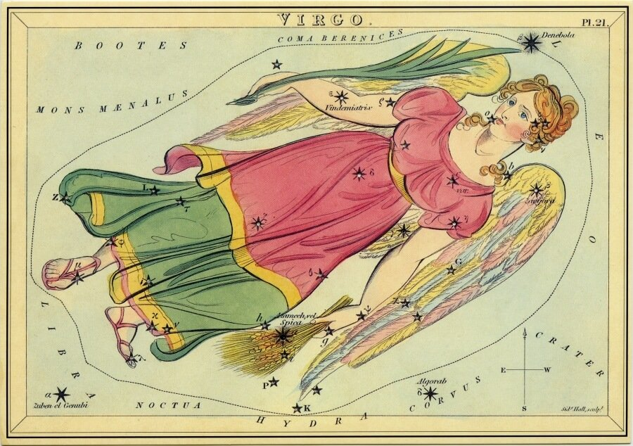 Virgo - from the Box of Stars - by Catherine Tennant