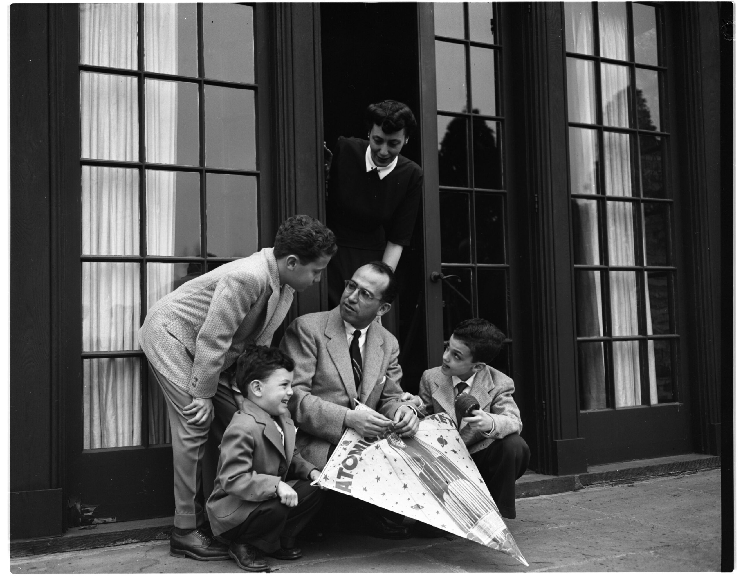 Dr. Jonas E. Salk and his family, April 1955 | Ann Arbor District Library