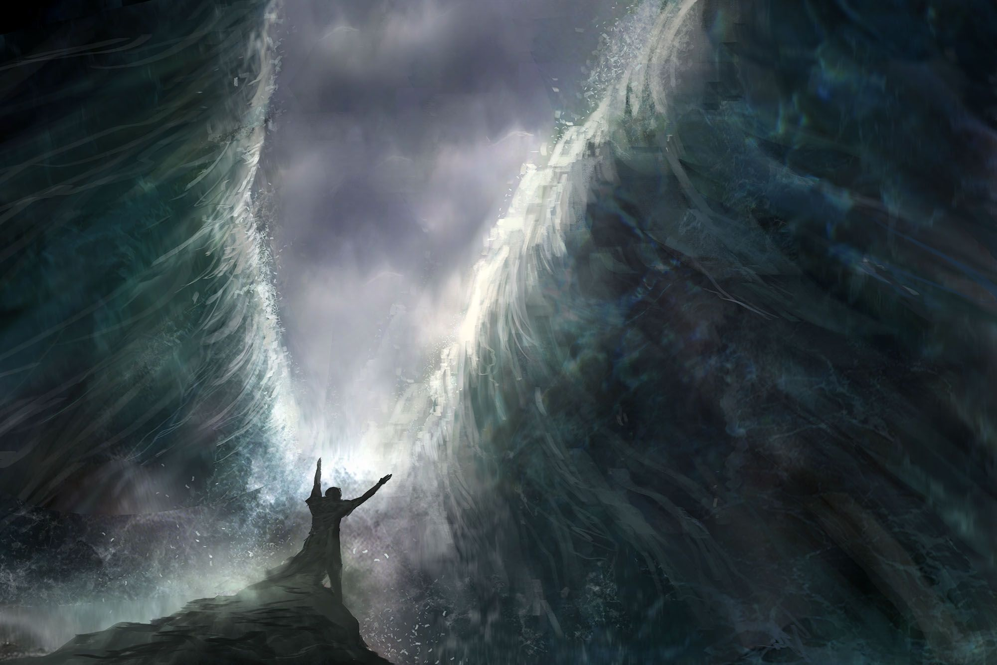 Pin by Phil Armour on Bible collage | Red sea, Christian art projects, Moses  red sea