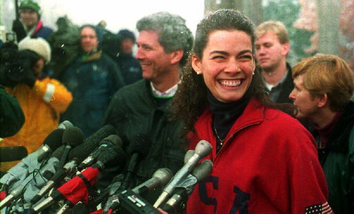 Image result for nancy kerrigan press conference feb 1994