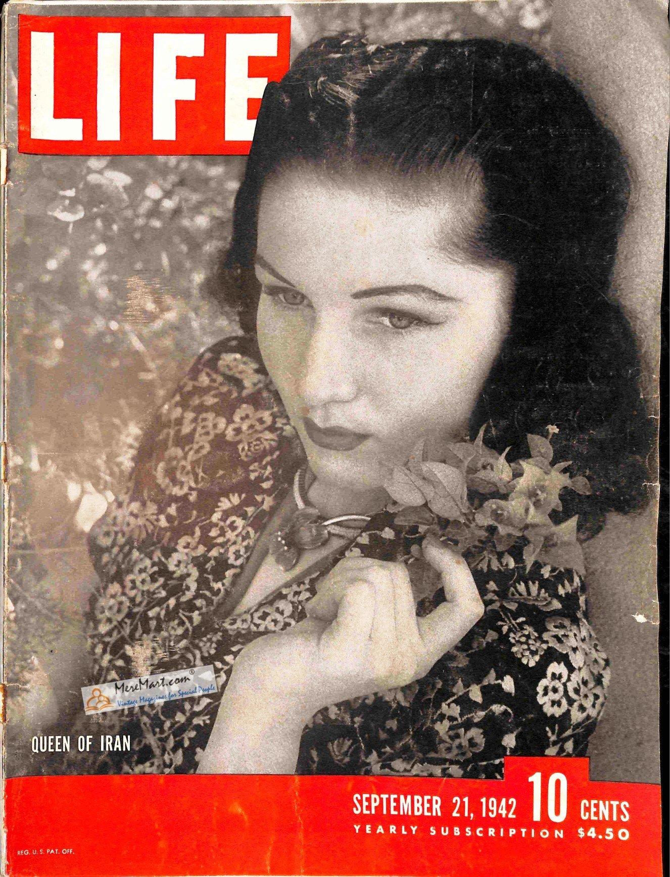 Original Life Magazine From September 21, 1942 - Iran's Queen Fawzia: Life Magazine: Books - Amazon.ca