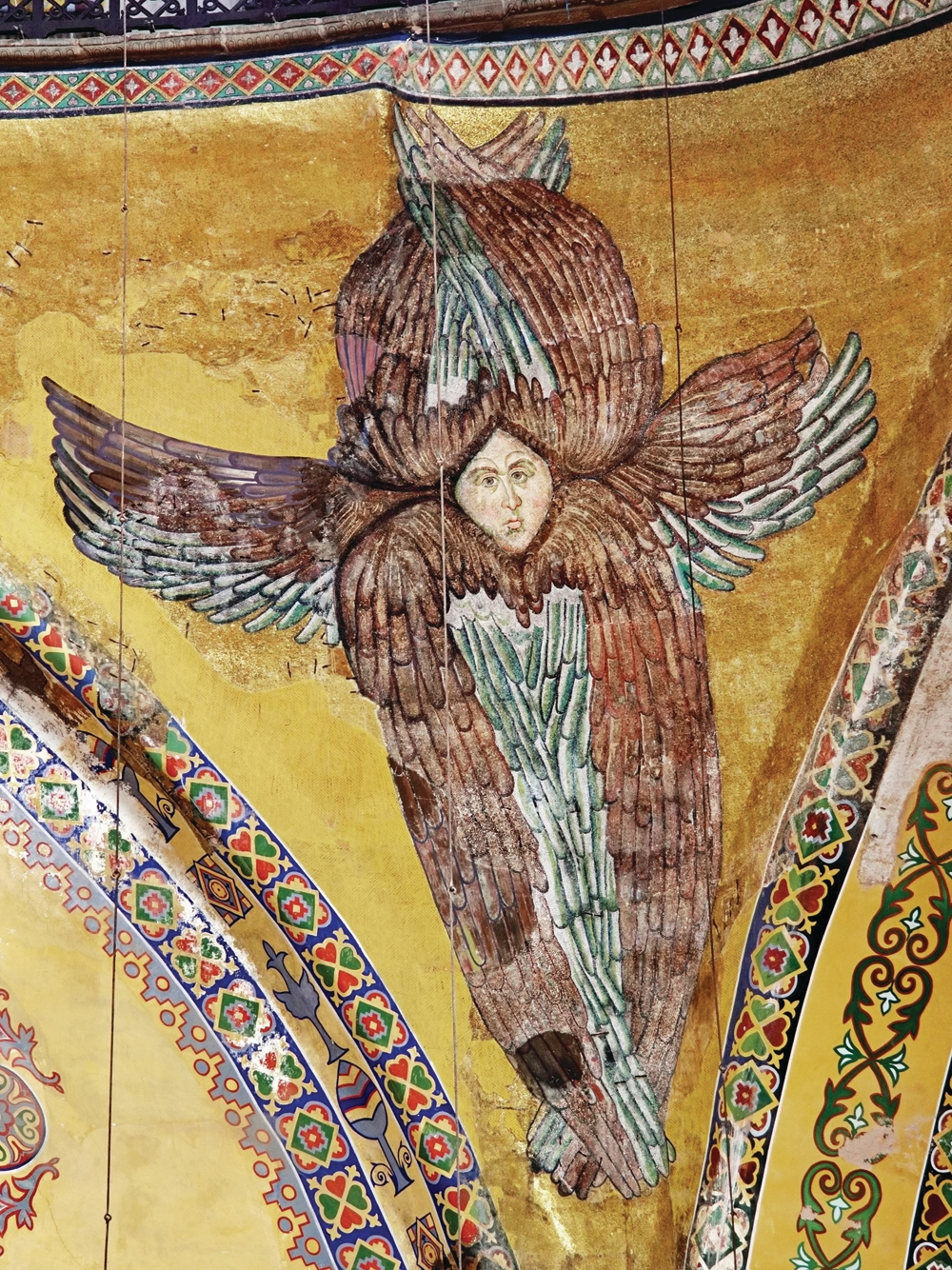 Hagia Sofia restoration reveals face of a seraph angel mosaic - Architectural Review