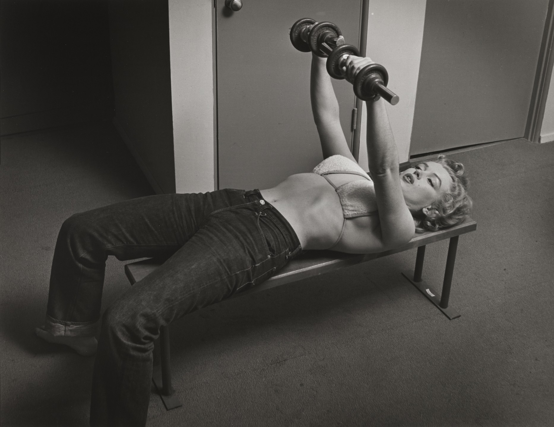 Philippe Halsman. Marilyn Monroe with Barbells. 1952 | MoMA