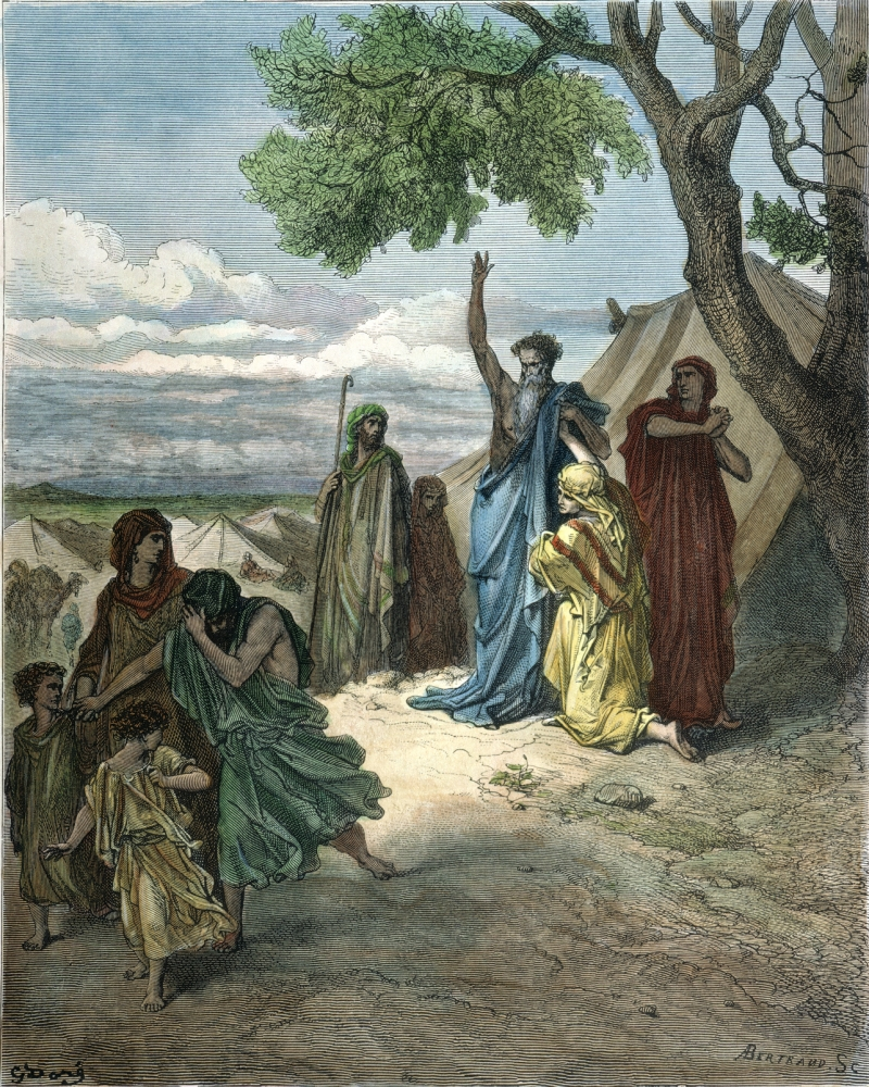 Old Testament Noah Ncovered By His Sons Shem And Japheth Noah Curses The Family Of His Younger Son Ham Who Had Seen NoahS Nakedness (Genesis 9 22-25) Wood Engraving After Gustave Dor