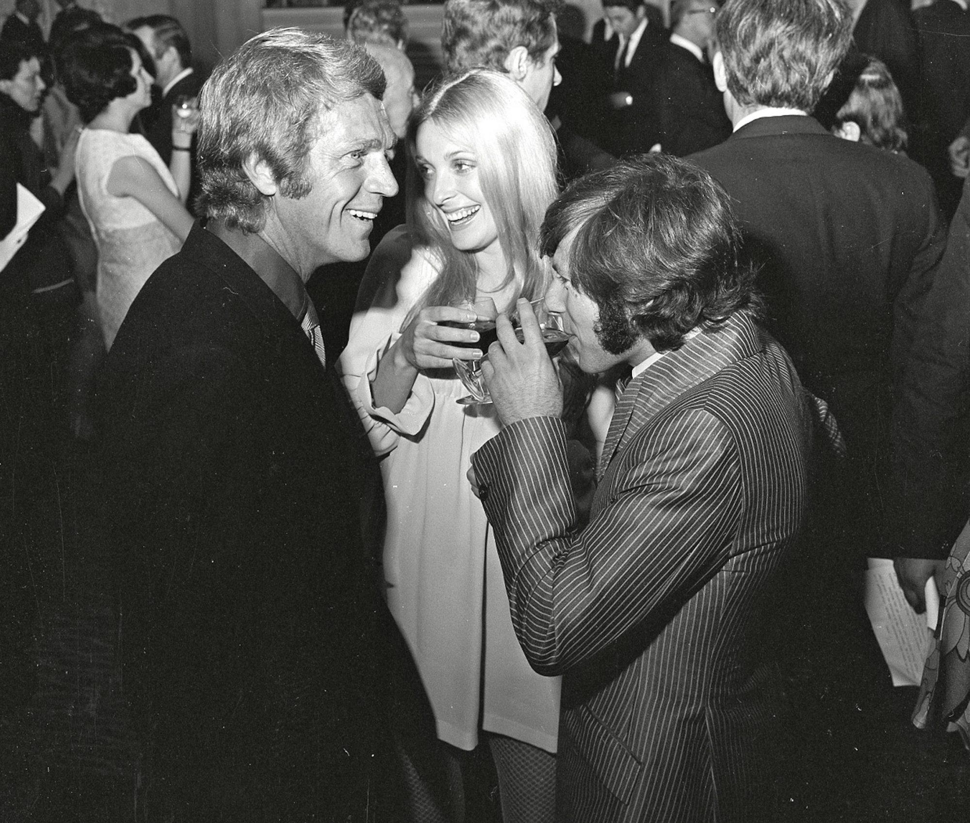 Steve McQueen, Sharon Tate and Roman Polanski