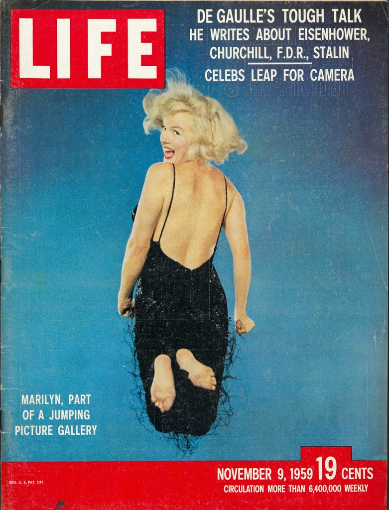 Philippe Halsman | Cover of the magazine Life with a portrait of Marilyn Monroe jumping by Philippe Halsman, November 9 (1959) | Artsy