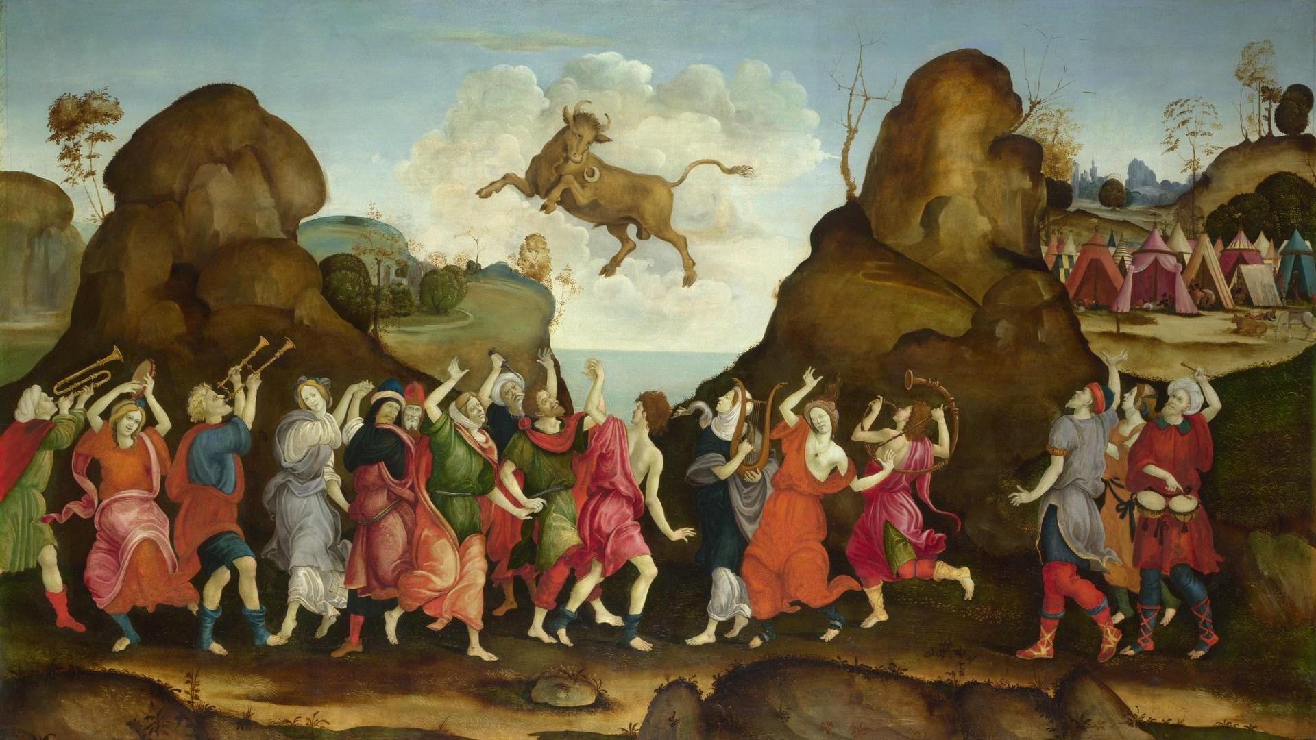 Follower of Filippino Lippi   The Worship of the Egyptian Bull God, Apis   NG4905   National Gallery, London